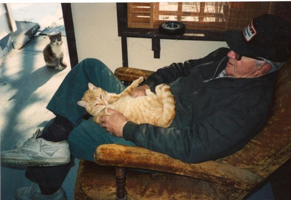 Tomcat... before he got really into cat-fighting and shredded his ears.  First rule of cat fightclub... you run to grandpa when you get hurt... but you also don't talk about cat fightclub