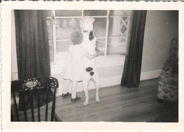 """my aunt, and the dog before Mippy.  I suspect the conversation here would be, """"Do you think we'll see santa?""""... """"santa?  I thought we were waiting for the butcher's truck!"""""""
