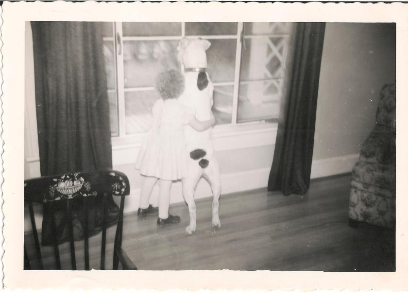 "my aunt, and the dog before Mippy.  I suspect the conversation here would be, ""Do you think we'll see santa?""... ""santa?  I thought we were waiting for the butcher's truck!"""