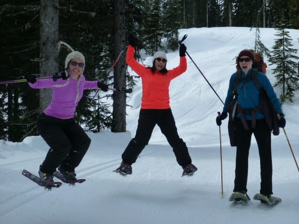 ... in which we couldn't manage one single shot of us all jumping at the same time.  jumping in snowshoes is hard!